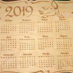 Календарь на 2019 год