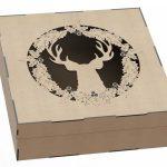 Коробка новогодняя с оленем