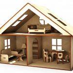 Кукольный домик 2-х этажный – 30 см