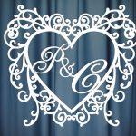 Монограмма на свадьбу №18