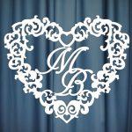 Монограмма на свадьбу №20