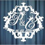 Монограмма на свадьбу №32