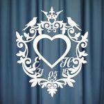 Монограмма на свадьбу №3