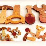 Объемный деревянный пазл Набор инструментов