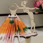 Салфетница модница с платьем