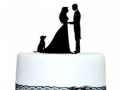 Топпер — Жених и невеста (с собачкой)