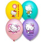 Воздушные шары с гелием Hello Kitty