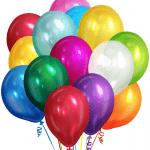 Воздушные шары с гелием металлик